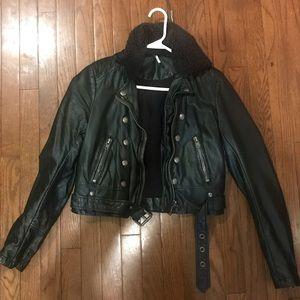 Free People Ashville Vegan Moto Jacket
